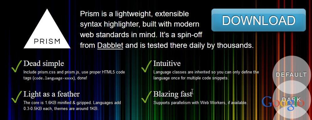 Google Code Prettify 漂亮代码高亮样式分享