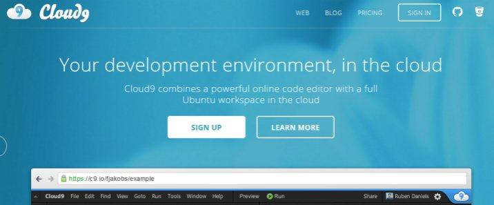 超强云端IDE——Cloud9推荐与使用