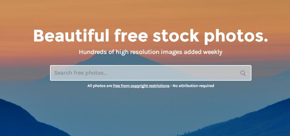 StockSnap.io:一个高品质的免费无版权可商用高清图片网站