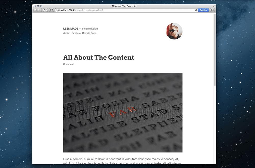 极度简洁的WordPress主题推荐:Less