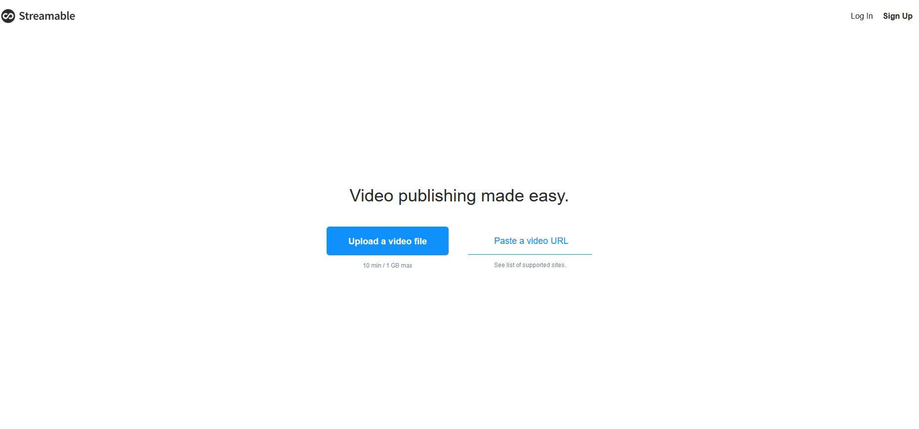 Streamable:在线视频编辑剪辑工具网站推荐