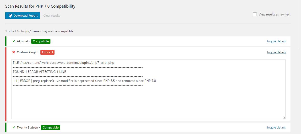 php-compatibility-checker:WordPress PHP兼容性检查插件